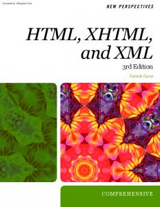 HTML, XHTML, and XML 3rd Edition