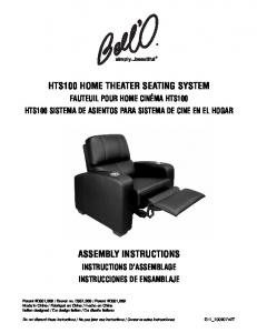 HTS100 HOME THEATER SEATING SYSTEM