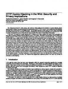 HTTP Cookie Hijacking in the Wild: Security and Privacy Implications