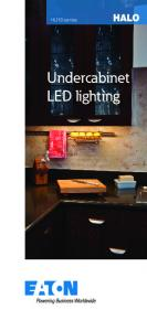 HU10 series. Undercabinet LED lighting
