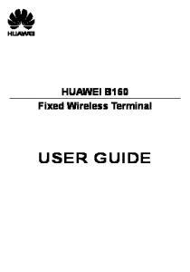 HUAWEI B160 Fixed Wireless Terminal USER GUIDE