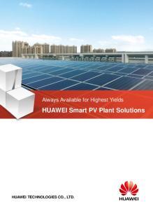 HUAWEI Smart PV Plant Solutions