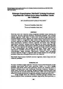 Hubungan Kepemimpinan Distributif Terhadap Komitmen: Organisasi dan Tekanan Kerja dalam Pendidikan Teknik dan Vokasional