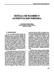 HUELGA DE HAMBRE Y ALIMENTACION FORZOSA