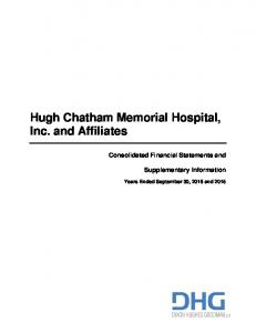 Hugh Chatham Memorial Hospital, Inc. and Affiliates