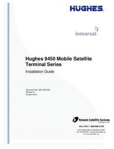 Hughes 9450 Mobile Satellite Terminal Series. Installation Guide