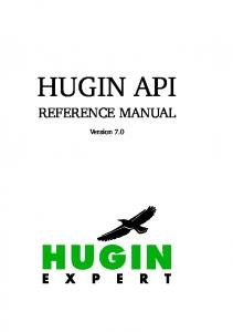 HUGIN API REFERENCE MANUAL. Version 7.0