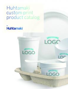 Huhtamaki custom print product catalog