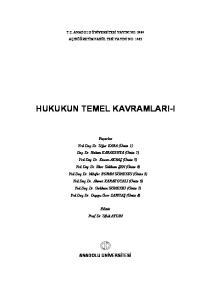 HUKUKUN TEMEL KAVRAMLARI-I