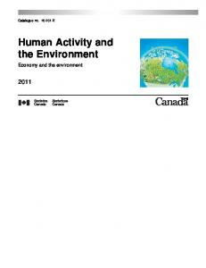 Human Activity and the Environment