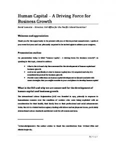 Human Capital A Driving Force for Business Growth