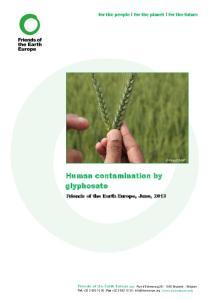 Human contamination by glyphosate