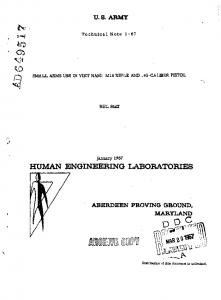 HUMAN ENGINEERING LABORATORIES