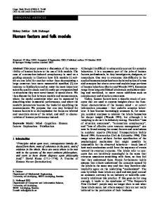 Human factors and folk models