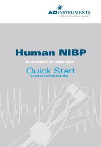 Human NIBP. Quick Start. Non-invasive hemodynamics. Get set up and start recording