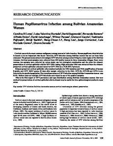 Human Papillomavirus Infection among Bolivian Amazonian Women