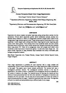 Human Perception Based Color Image Segmentation