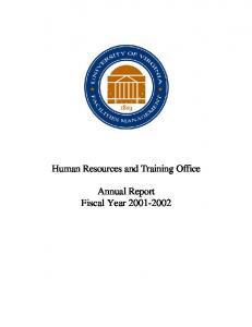Human Resources and Training Office