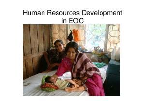 Human Resources Development in EOC
