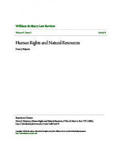 Human Rights and Natural Resources