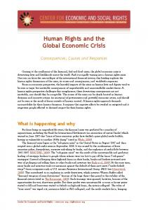 Human Rights and the Global Economic Crisis