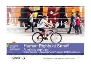 Human Rights at Sanofi
