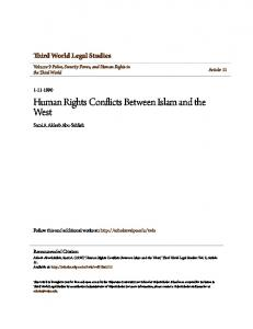 Human Rights Conflicts Between Islam and the West