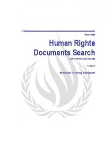 Human Rights Documents Search The OHCHR Web Search Facility