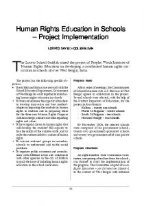 Human Rights Education in Schools Project Implementation