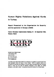 Human Rights Violations Against Kurds in Turkey