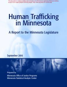 Human Trafficking in Minnesota