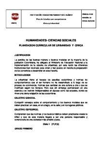 HUMANIDADES- CIENCIAS SOCIALES