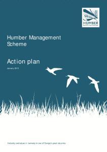 Humber Management Scheme. Action plan. January 2015