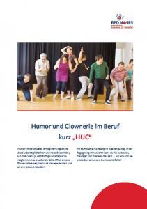 Humor und Clownerie im Beruf kurz HUC