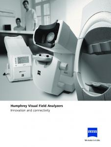 Humphrey Visual Field Analyzers Innovation and connectivity