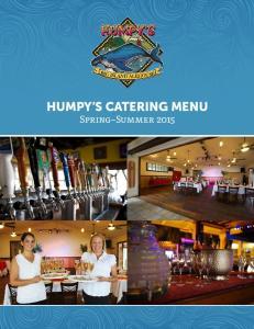 HUMPY S CATERING MENU Spring Summer 2015