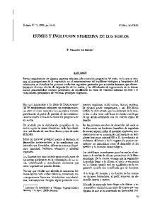 HUMUS Y EVOLUCION REGRESIVA DE LOS SUELOS