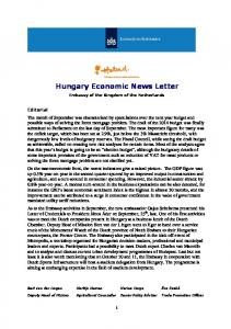 Hungary Economic News Letter