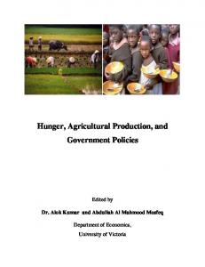 Hunger, Agricultural Production, and Government Policies