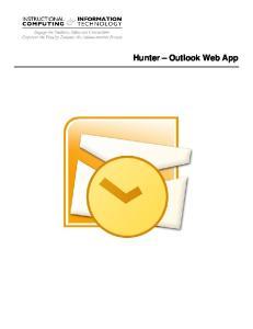 Hunter Outlook Web App