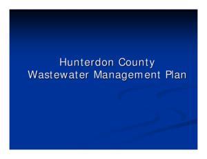 Hunterdon County Wastewater Management Plan