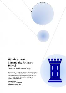 Huntingtower Community Primary School. Positive Behaviour Policy