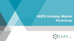 HUPX Intraday Market Workshop