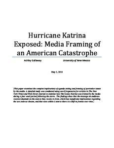 Hurricane Katrina Exposed: Media Framing of an American Catastrophe