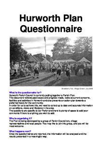 Hurworth Plan Questionnaire