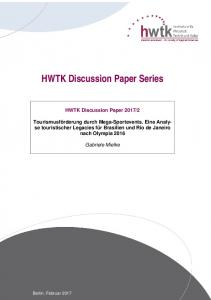 HWTK Discussion Paper Series