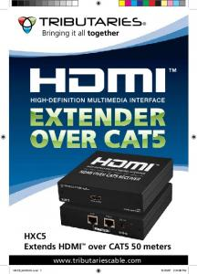 HXC5 Extends HDMI over CAT5 50 meters