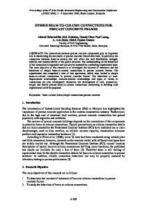 HYBRID BEAM-TO-COLUMN CONNECTIONS FOR PRECAST CONCRETE FRAMES