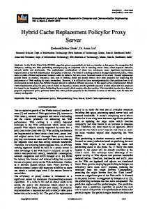 Hybrid Cache Replacement Policyfor Proxy Server