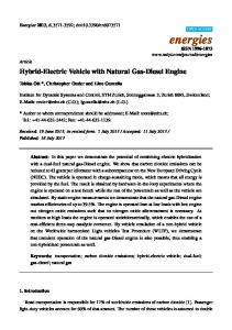 Hybrid-Electric Vehicle with Natural Gas-Diesel Engine